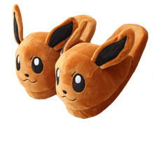 New Winter Animal Plush Indoor Slippers Cartoon Furry Fluffy House Home With Fur Flip Flops Women Mules Platform Bow Faux Flat недорого