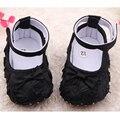 2016 chegada nova Cute Baby batismo bebé recém-nascido sapatos set cabeça da criança do bebê sapatos botas sapatos para meninas