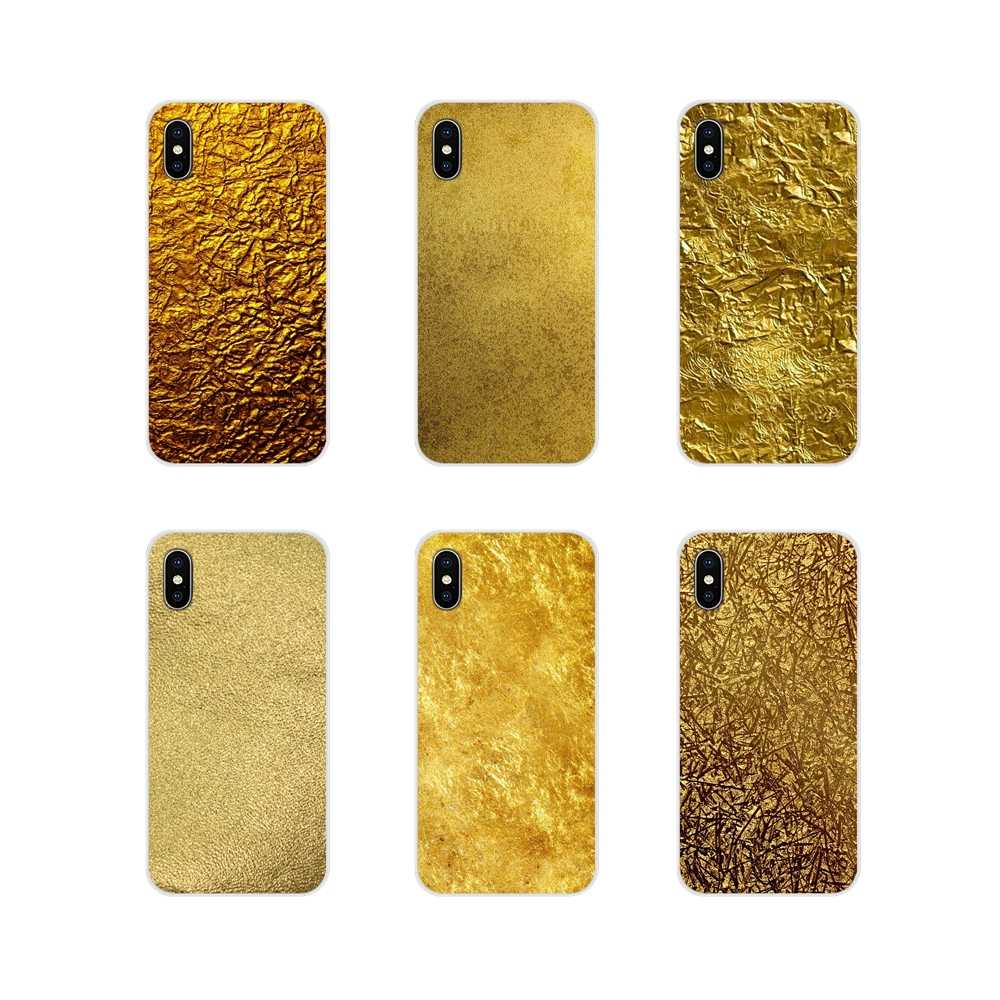 Soft Transparent Shell Cover Metallic Gold Foil Wallpaper For Samsung Galaxy S4 S5 Mini S6 S7 Edge S8 S9 S10 Plus Note 3 4 5 8 9 Half Wrapped Cases Aliexpress