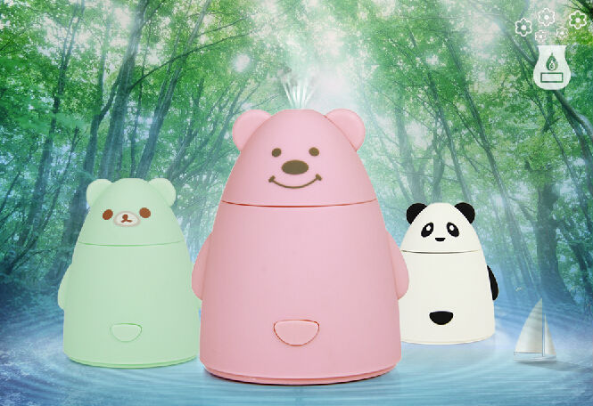 USB Mini Cartoon Air Humidifier DC 5V Diffuser Air Purifier Mist Maker Fogger Ultrasonic Humidifiers Office Home Free Shipping
