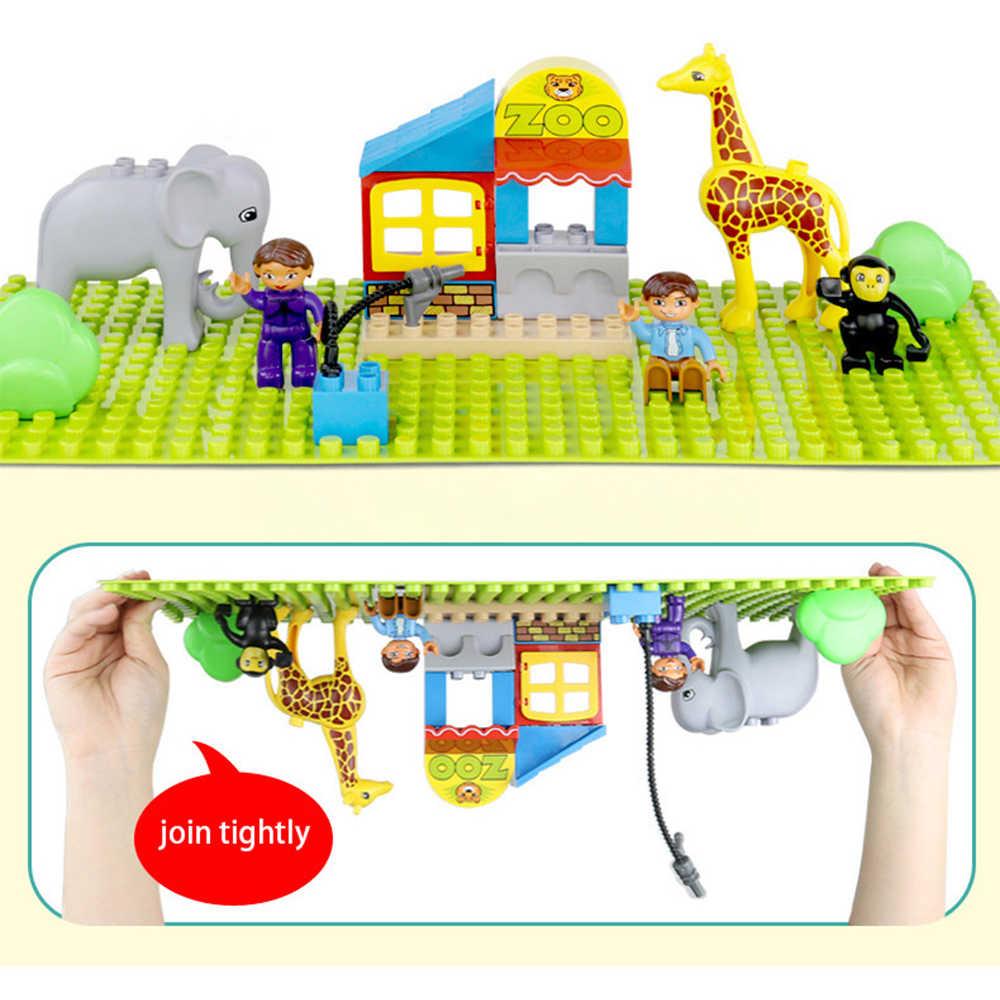 Большой размер опорная плита большая Базовая пластина 404 точки большой кирпич твердая пластина игрушки Совместимые Legos Duploe игрушки для детей