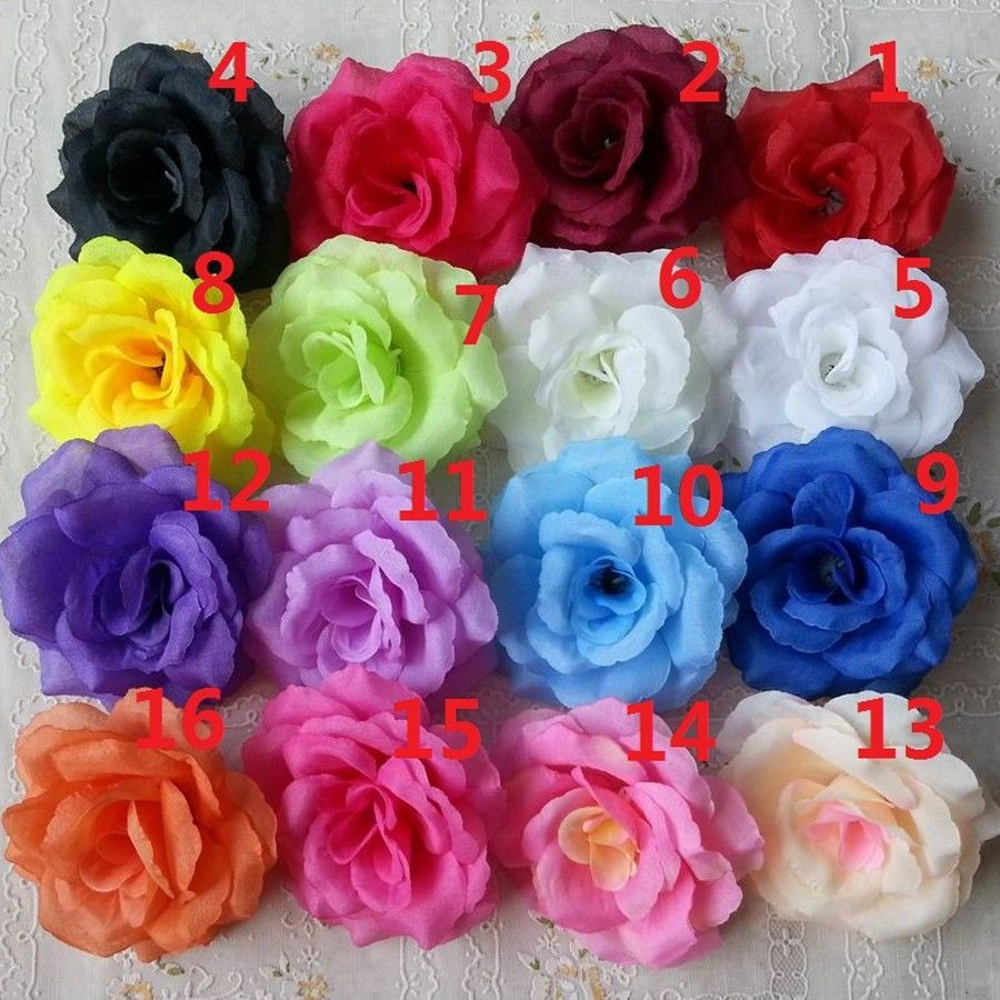 Compare prices on craft silk flower heads online shoppingbuy low 50 pcs artificial silk flower red craft rose heads for party home wedding decorationchina dhlflorist Images
