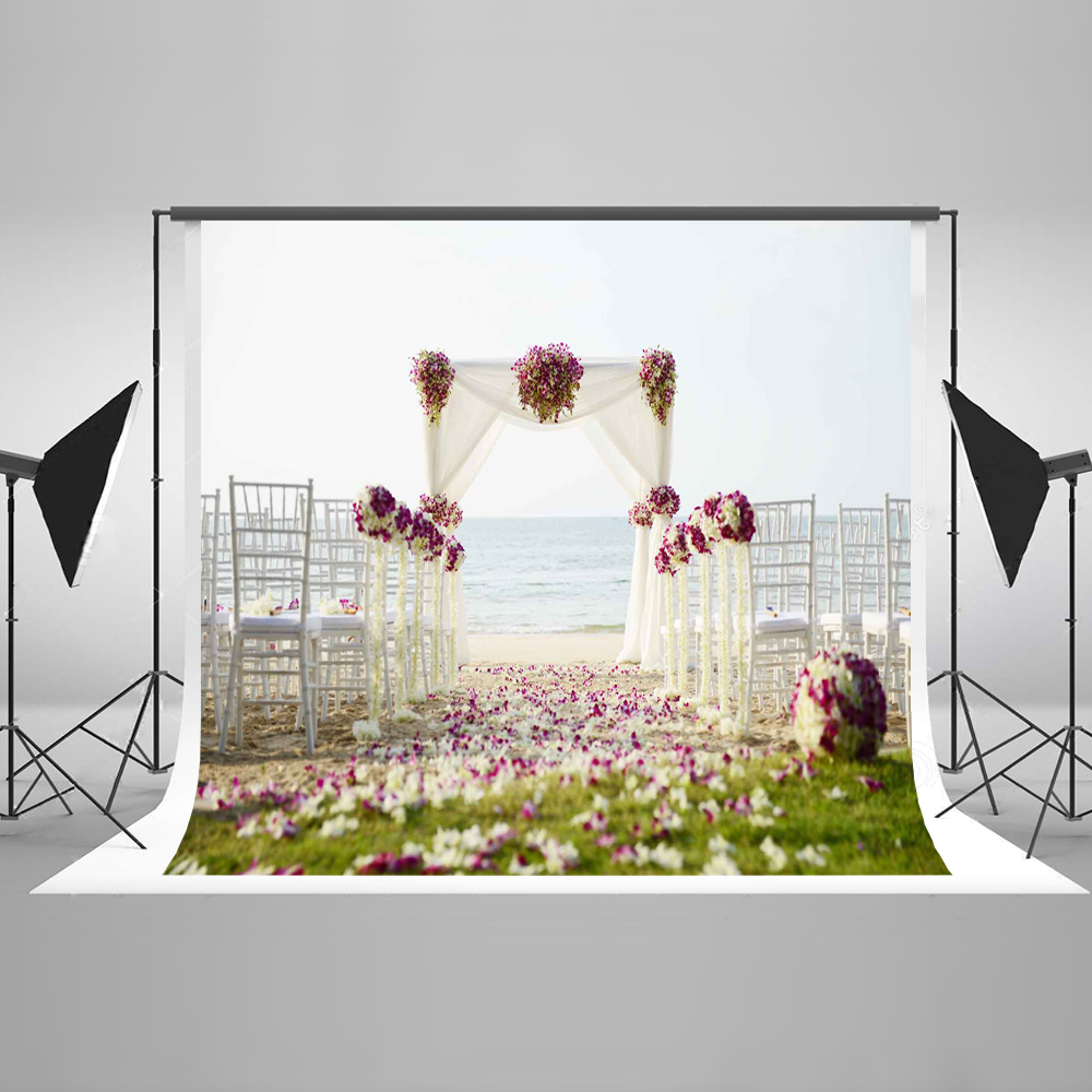 Kate 7x5 Backdrop for Photography Cotton Seamless Romantic Seaside Wedding Ceremony Scenery Background for Photo Studio 10ft 20ft romantic wedding backdrop f 894 fabric background idea wood floor digital photography backdrop for picture taking