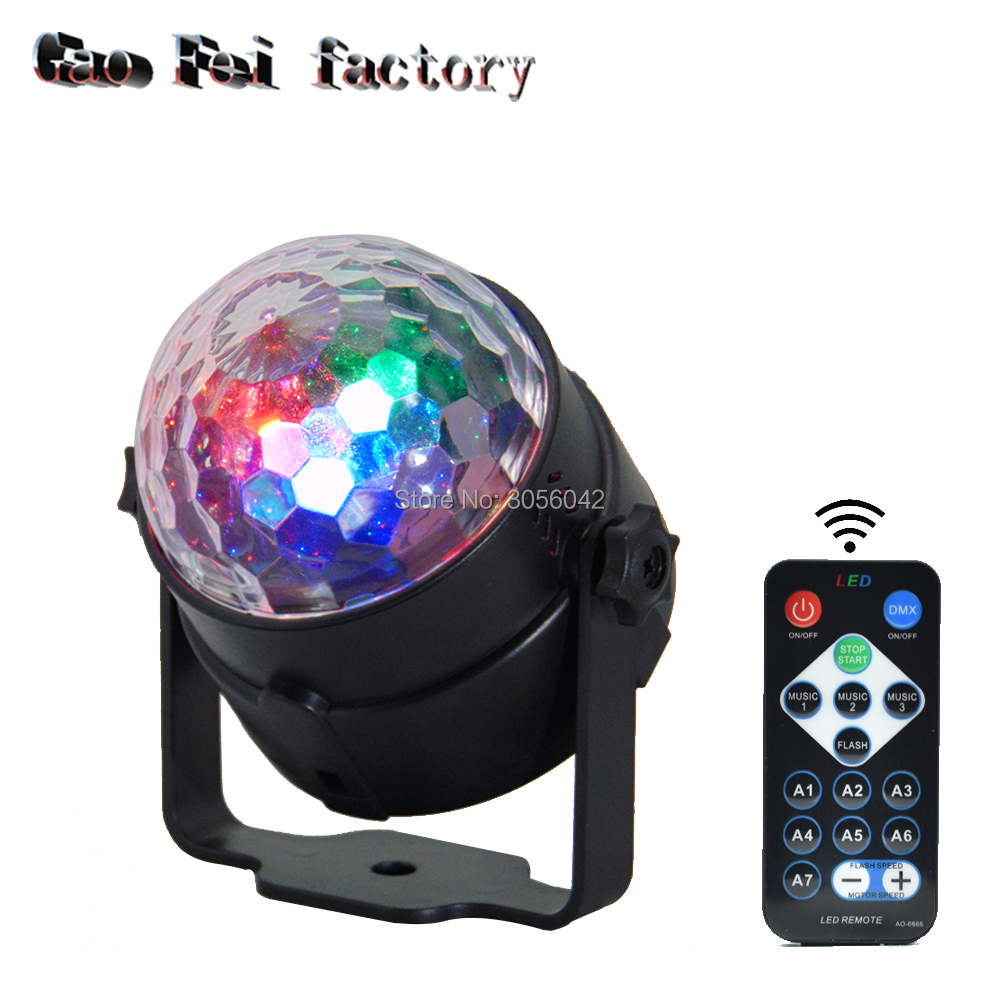 IR Remote Control 7 Colors Laser Projector Led Stage Lamp party lights Sound Control Magic Crystal|party light sound|laser projector|light sound - title=