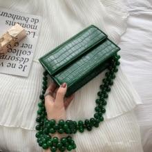 Women Beaded Stone Design PU Leather Crossbody Bags (2 colors)