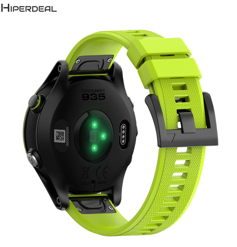 HIPERDEAL Replacement 220MM Solid 11Colors Silicagel Soft Black Band Strap Bracelet For Garmin Forerunner 935 Smart Watch SE22b garmin forerunner 935 black