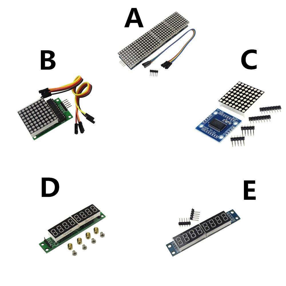 max7219 dot led matrix module mcu led display control module kit for arduino diy kit