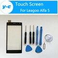 Leagoo Alfa 5 Tela Sensível Ao Toque de 100% Chegam Novas de 5.0 Polegada Toque tela Para Leagoo Alfa 5 Smart Phone-Cor Preta Em Estoque