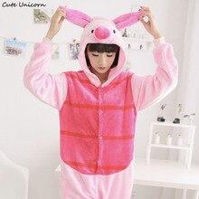 Cartoon Animal Pajamas Piglet Pig Cosplay Onesies Adults Jumpsuit Cos Costume for Halloween and Carnival pyjamas women sleepsuit