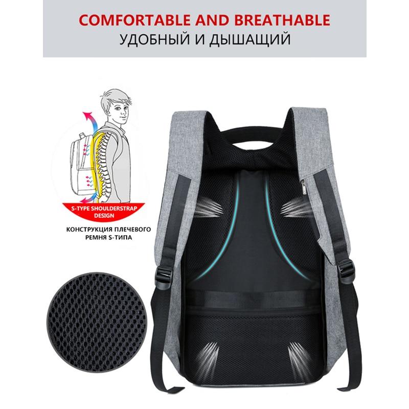Bbirds Usb Charging Men 15 Inch Laptop Backpacks Waterproof Men's Business Bag Anti Theft Roubo Backpack Nylon School #4
