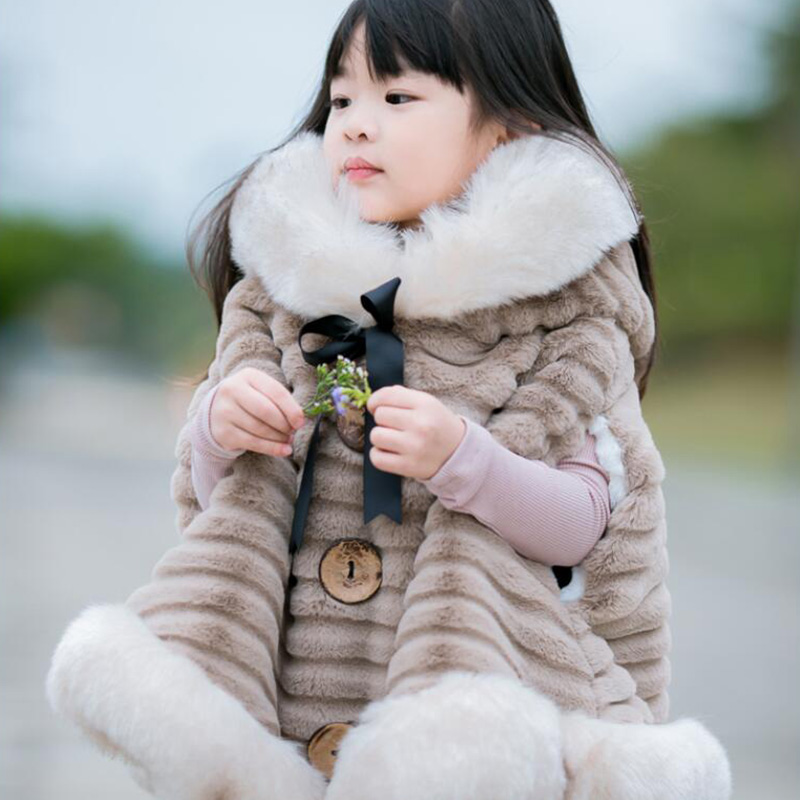 kids baby cape pattern hooded girls Coat jackets 2018 New Girls Warm fur Hoodie Coat Outerwear Coat Tops amz motorcycle helmet retro vintage jet scooter helmet bicycle racing harley open face helmets capacete casque moto dot approved