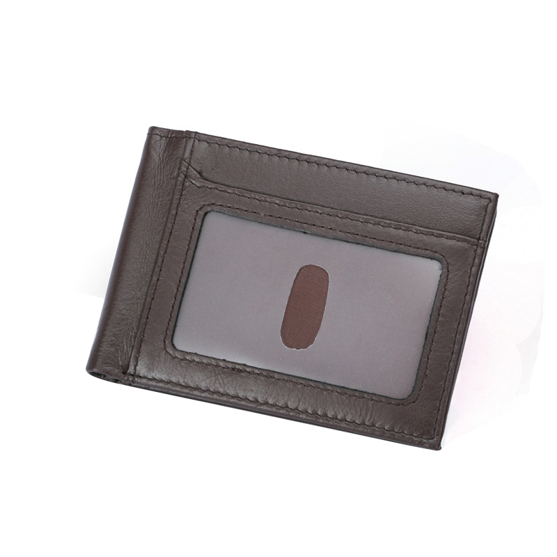 RFID Blocking Genuine Leather Men Wallet Bifold Short Card Holder Purse With Coin Pocket Solid Male Wallets jinbaolai fashion genuine leather wallet bifold leather wallet id card holder zipper coin purse hasp short wallet for men s gift