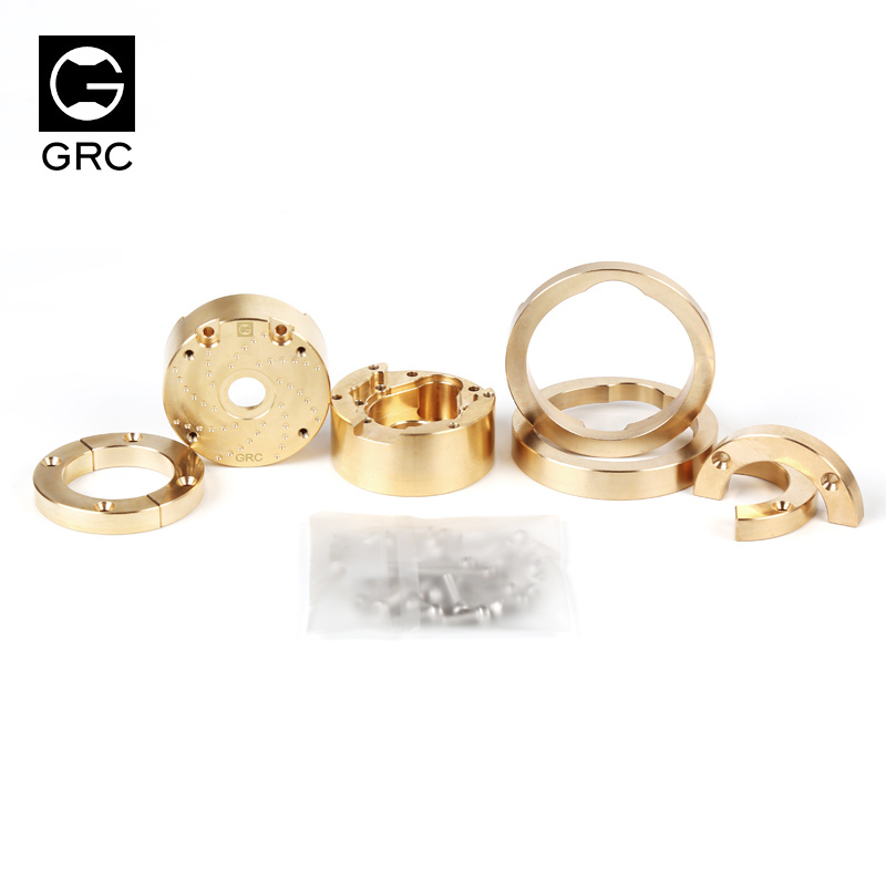 US $69 0 |GRC axle door gear box cover brass plate wheel counterweight  single wheel 188g for TRX4 TRX 4 TRX 4 1/10 rc car Land Rover -in Parts &