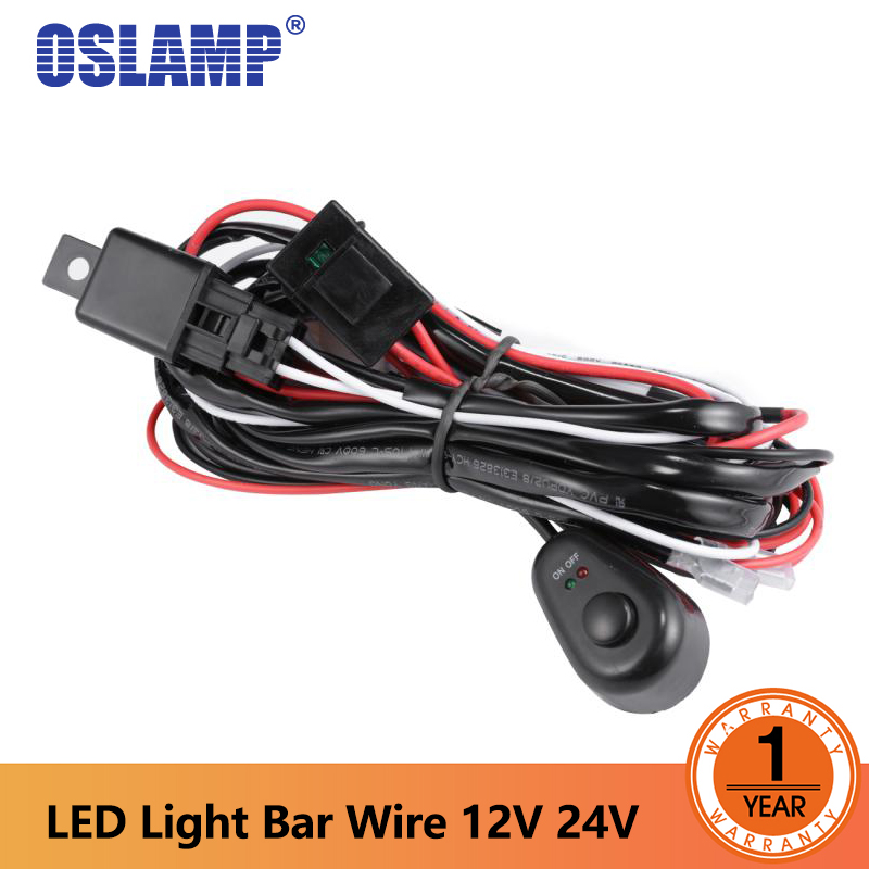 Oslamp 12v 2x 40A Car light relay harness on off switch set ... on
