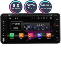 Roadlover Android 8.0 Car DVD Player For Toyota Auris Hilux Fortuner Land Cruiser 100 Prius Verso Avensis Stereo GPS Navigation
