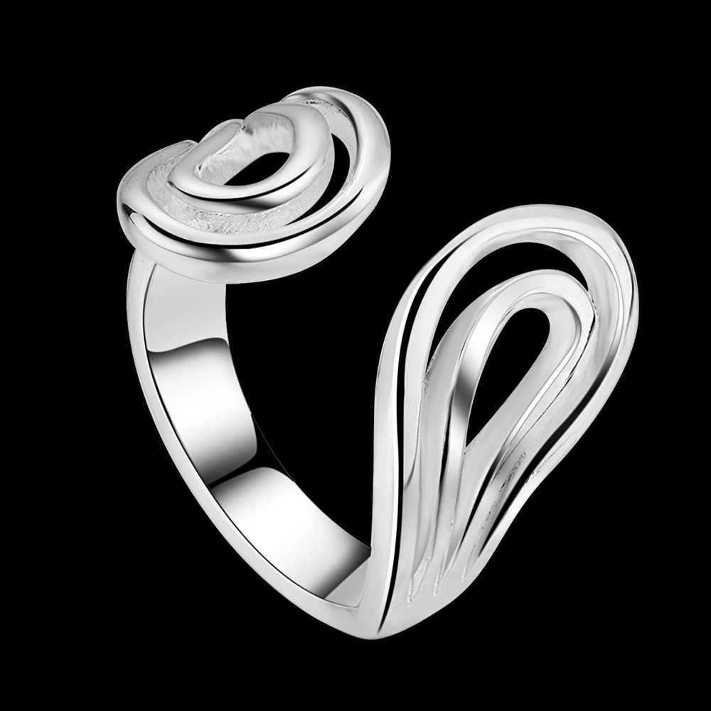 Bán buôn đồ trang sức bạc 925 mạ nhẫn bạc chỉnh kích cỡ, đồ trang sức thời trang Ring cho Phụ Nữ,