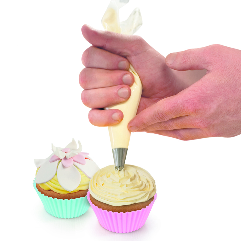50pcs PE PASTRY BAG Disposable cake Decorating Piping Icing Bags Set Larger 16 Inch in Dessert Decorators from Home Garden