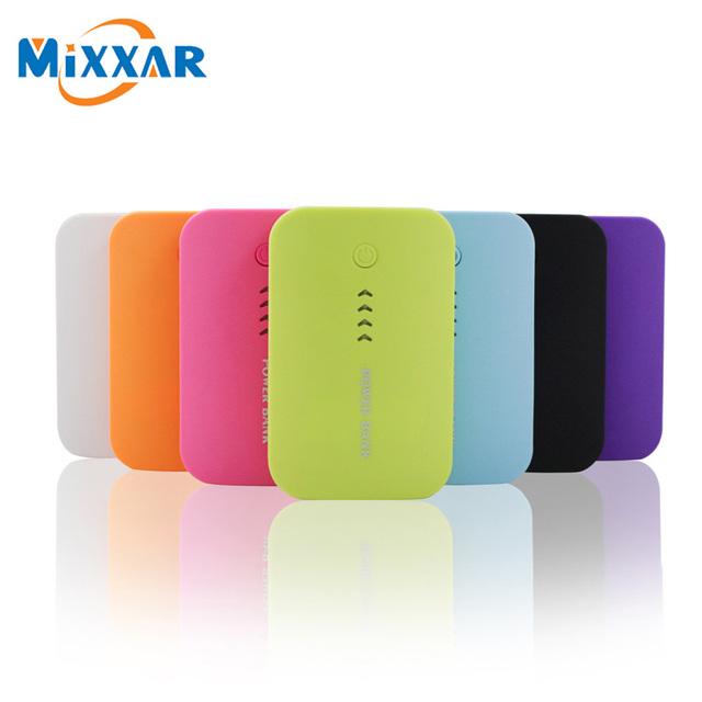 Mixxar dupla usb 6600 mah banco de potência móvel externo bateria de backup powerbank carregador portátil para smartphone mainstream