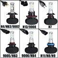 Auxmart H7 H11 H13 9005/HB3 9006/HB4 H4 Car Bulbs Led Headlight Kits Dipped Beam & High Beam CREE Chips Auto/SUV Fog Lamps 6500K
