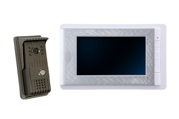 7 Inch LCD Monitor Wired Intercom Access Control  Video Doorbell