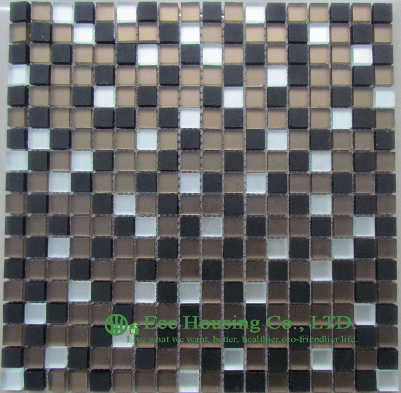 Crystal  Glass Mosaic Tile-7 High And Low Temperature Resistance Crystal  Mosaic Tile Factory, For Indoor And Outdoor Walls