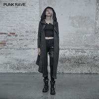 New Punk Rave Gothic Fashion Vintage Loose Weird long Women Cardigan Sweater Cape Coat Jacket Hoodie WM045
