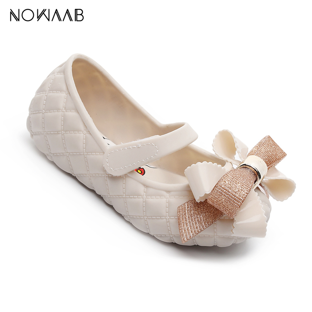 Mini Melissa Big Bow  2019 New Original Girl Jelly Sandals Bow Kids Sandals Children Beach Shoes Non-slip Melissa  Toddler Shoes