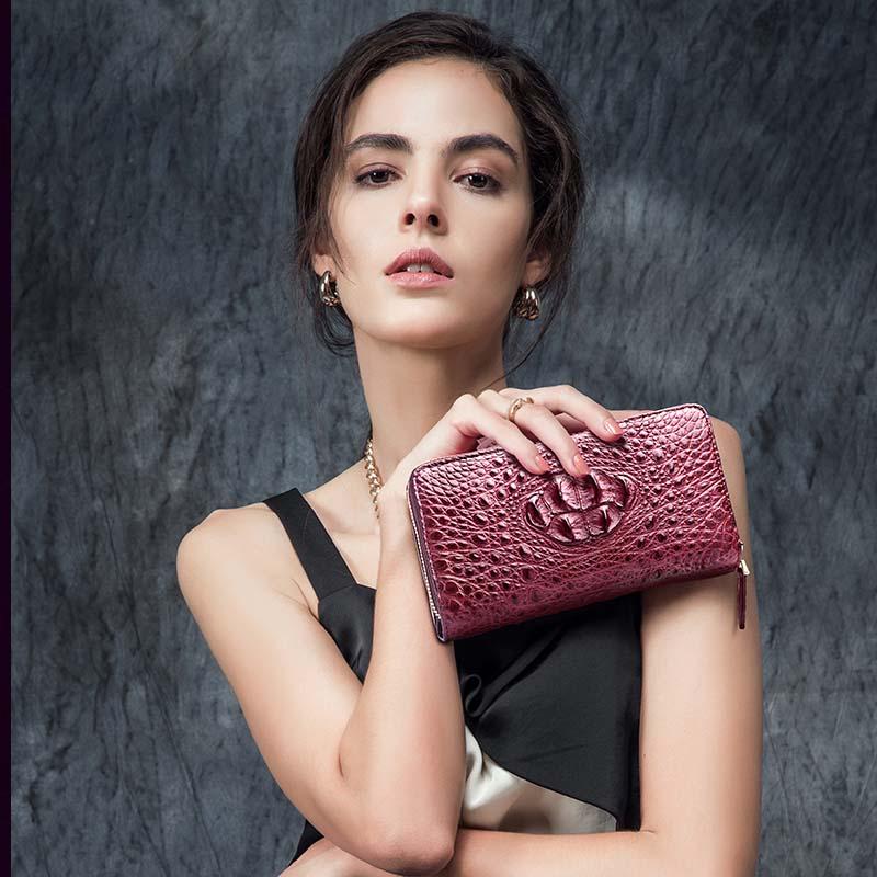 hlt thailand crocodile women wallet female genuine leather women clutch bag new long zipper handbag large capacity wallet dadi1 dadi hlt 102