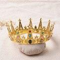 Свадебные Украшения Круглый Барокко Корона Головной Убор Старинные Роскошные Короны Свадьба Одеваться Благородный Корона Головной Убор WHG042