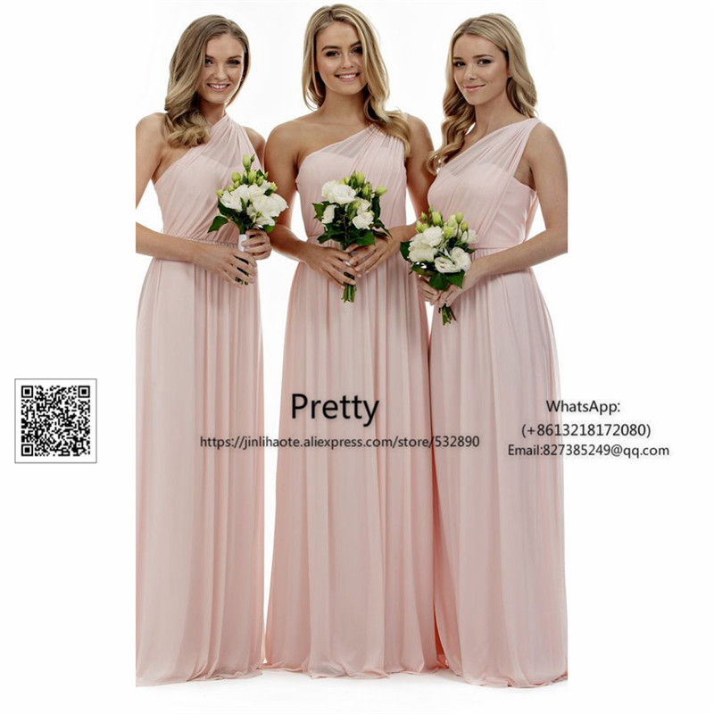 Spring 2017 one shoulder bridesmaid dresses long with for One shoulder dress for wedding guest