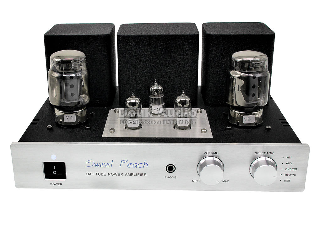 XiangSheng SP-KT100 Multifunctional Merged Single-ended Class A Tube Headphone Amplifier Built-in USB DAC MM Phono Preamp 3W*2 xiangsheng sweet peach sp kt100 tube amplifier hifi exquis signal ended amp mm phono stage headphone usb decode xsspkt100