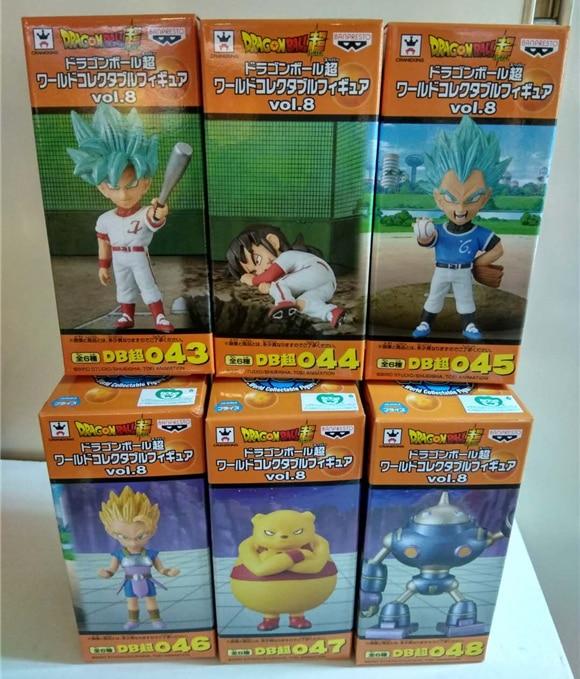 Dragon Ball SUPER Original Banpresto World Collectable Figure / WCF Vol.8 Collection Figure - Set of 6 Pcs Goku Vegeta Yamcha super junior the 4th world tour super show 4 release date 2013 6 28 kpop