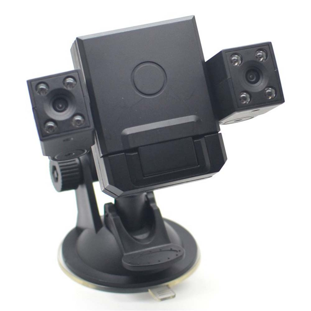 Black Box Car DVR Camera TFT 1080P H3000 2 inch 8 LED IR Night Vision Vehicle Camera Dual Lens