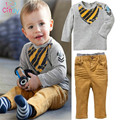New 2016 Kids Clothing Sets Long Sleeve T-Shirt + Pants, Autumn Spring Children's Sports Suit Boys Clothes Free Shipping