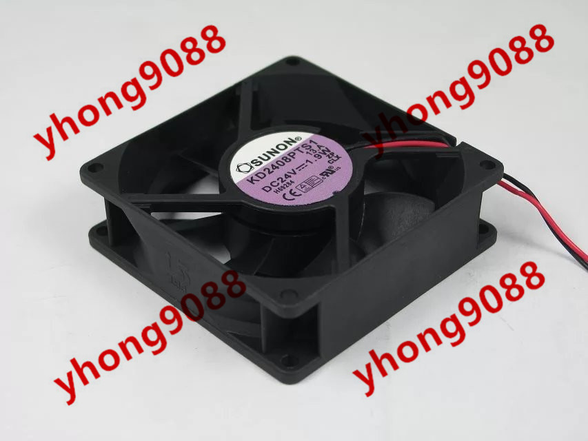 ФОТО Free Shipping For SUNON KD2408PTS1 DC 24V 1.9W 2-wire 2-pin connector 80X80X25mm Server Square Cooling Fan