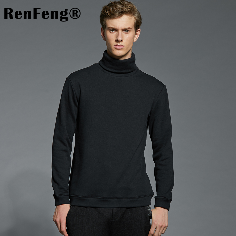 Men's Fashion Winter Men Slim thermo Long Sleeve T shirt Thicken Flannel Thermal Underwear Basic Tops Turtleneck Undershirt Male (3)
