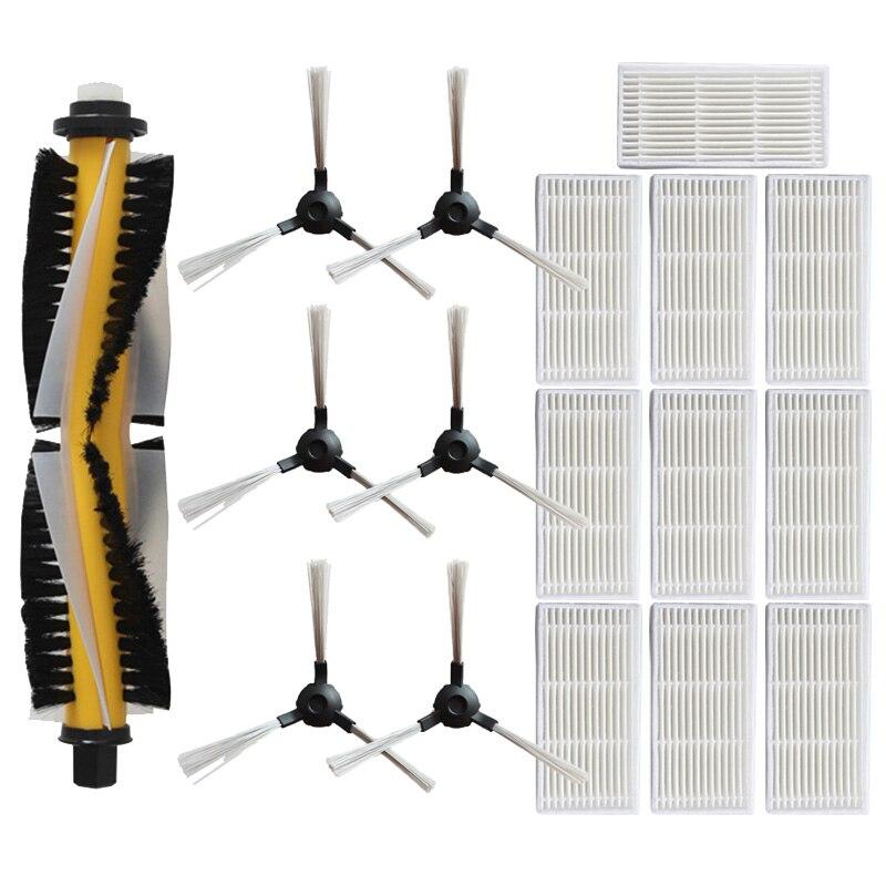 New 1*main Brush+6* Side Brush +10* Haipa For Proscenic SUZUKA KAKA-780 T-780 TS-790 T Vacuum Cleaner Accessories Replacement