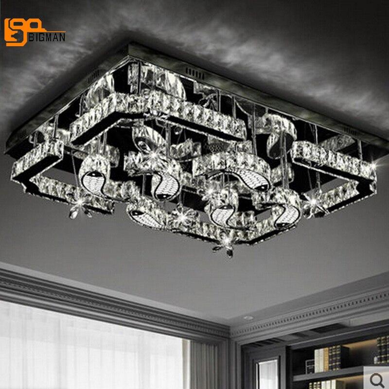 New beautiful LED crystal chandeliers modern lampadario for living room lustre de cristal LED light