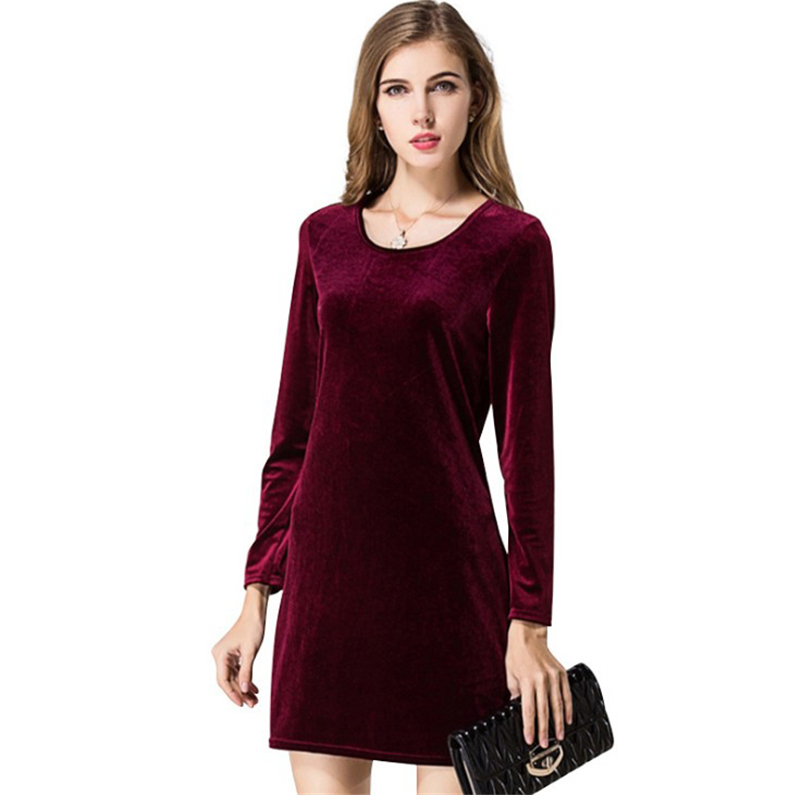 <font><b>Autumn</b></font> Winter <font><b>Women</b></font> velvet Dresses <font><b>2018</b></font> <font><b>Fashion</b></font> Lady Casual <font><b>Elegant</b></font> <font><b>Sexy</b></font> Long Sleeve Slim <font><b>Bodycon</b></font> Robe Dresses Vestidos L245 image