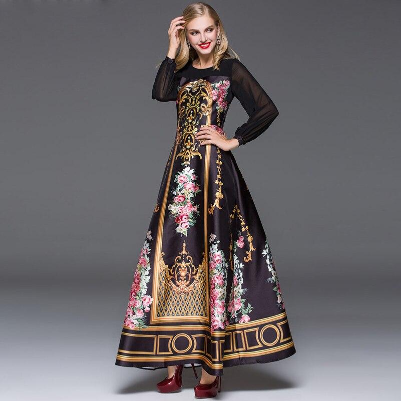 Elegant Designer Maxi Dress 2016 Կանանց տպագիր - Կանացի հագուստ - Լուսանկար 3
