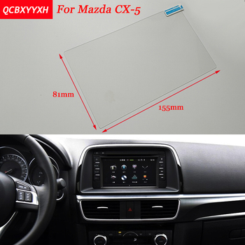 Car Sticker 7 Inch GPS Navigation Screen Steel Protective Film For Mazda CX-5 Control of LCD Screen Car Styling image