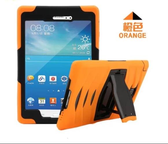 New Arrival Anti Dust Soft Silicon PC Hybrid Tablet Stand Case For Samsung Galaxy Tab A 8.0