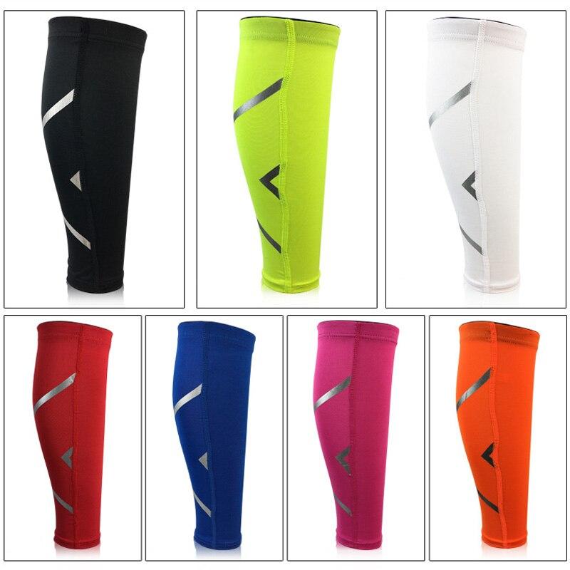 Compression Leg Sleeve Sports Basketball Football Calf Support Running Shin Guard Cycling Leg Warmers Sun UV Protection Antiskid