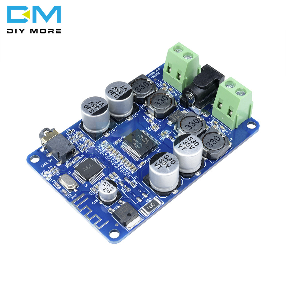 TDA7492P Bluetooth V2.1 Audio Receiver Power <font><b>Amplifier</b></font> Board With AUX Dual Double 2 X 25W Module Diy Electronic PCB Board image