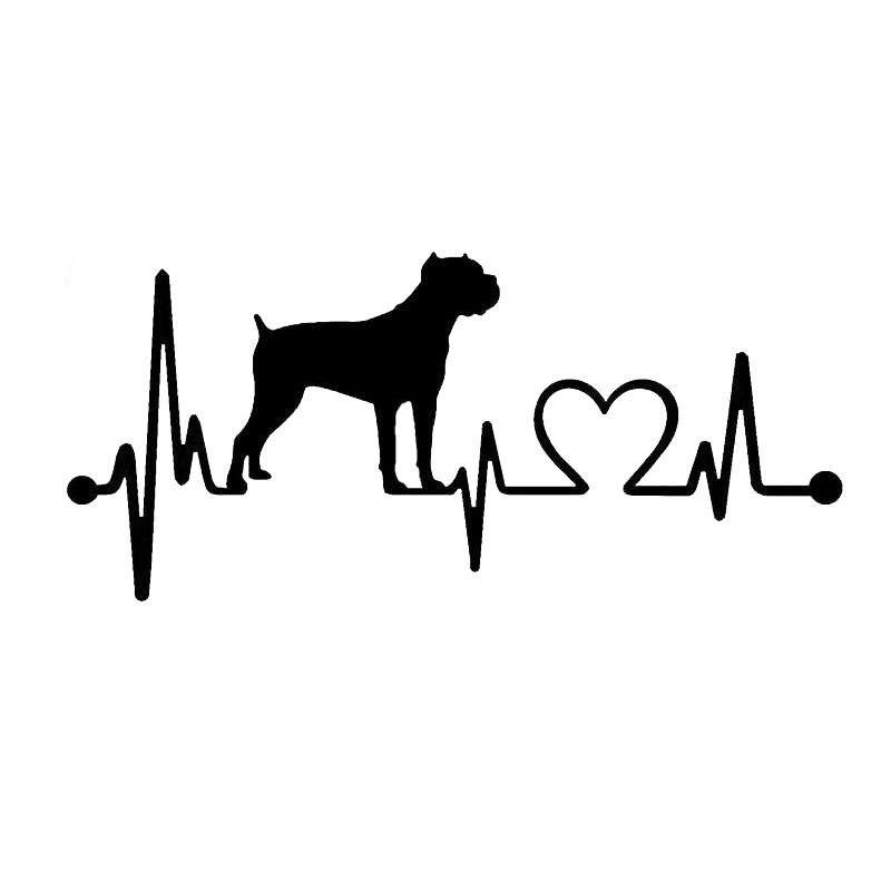 17.8*8CM Cane Corso Heartbeat Car Styling Funny Decorative Sticker Decal Black/Silver C6-1133