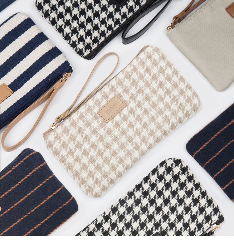 naval style fashion pencil grid stripe pen case multifunction large capacity stationery pouch cosmetic makeup bag pattern fashion easy matched stripe pattern shirt