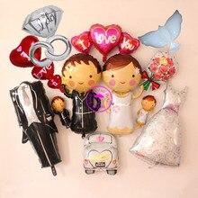 dove balloons wedding party supplies love balloon bride decoration toy diamond ring i you
