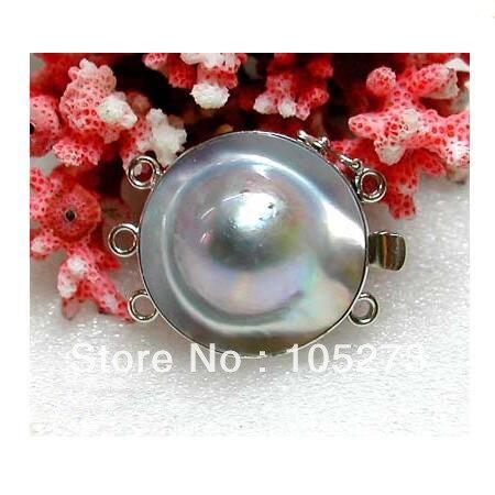 Nouveau Arriver exquis coquille fermoir 3 brins 25mm naturel Mabe coquille perle agréable pour collier Bracelet bijoux fermoir livraison gratuite