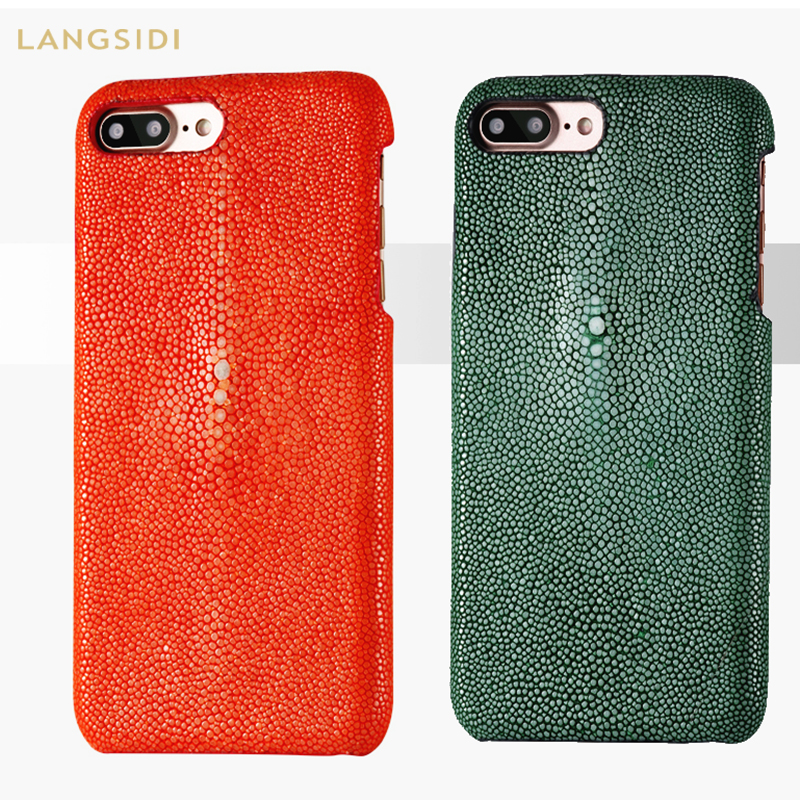 LANGSIDI Luxury Stingray custom made for iphone X XR XS MAX case Pearl fish cover leather phone case for iphone 8plus 6 7 caseLANGSIDI Luxury Stingray custom made for iphone X XR XS MAX case Pearl fish cover leather phone case for iphone 8plus 6 7 case