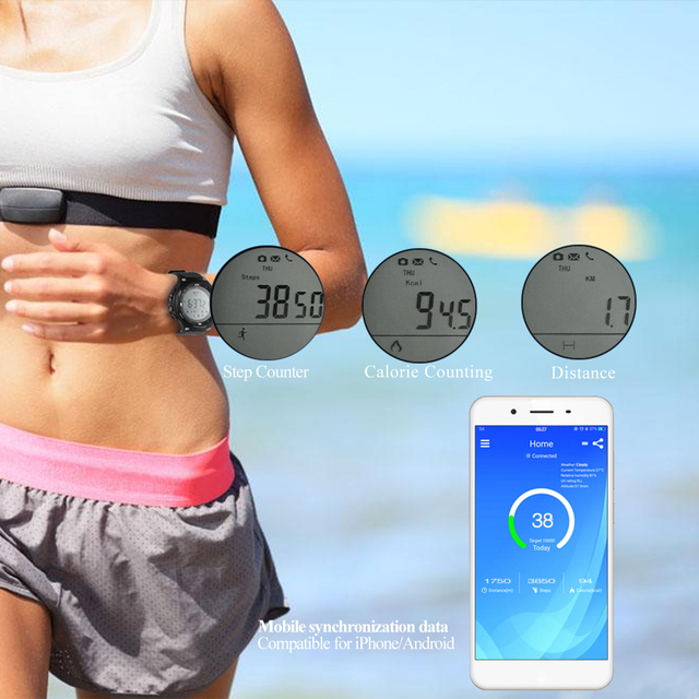 TimeOwner S3 Smart Watch IP68 Waterproof Swimming Pedometer Message Reminder Alarm Clock StopWatch Outdoor Sport Bluetooth watch